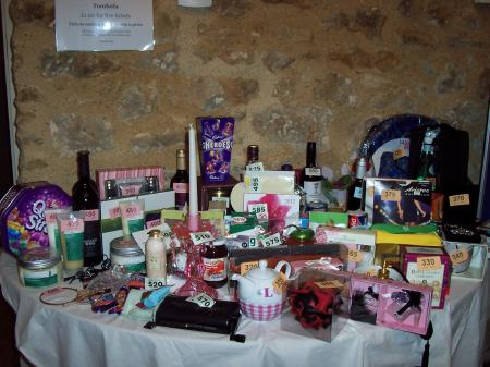 First table of prizes
