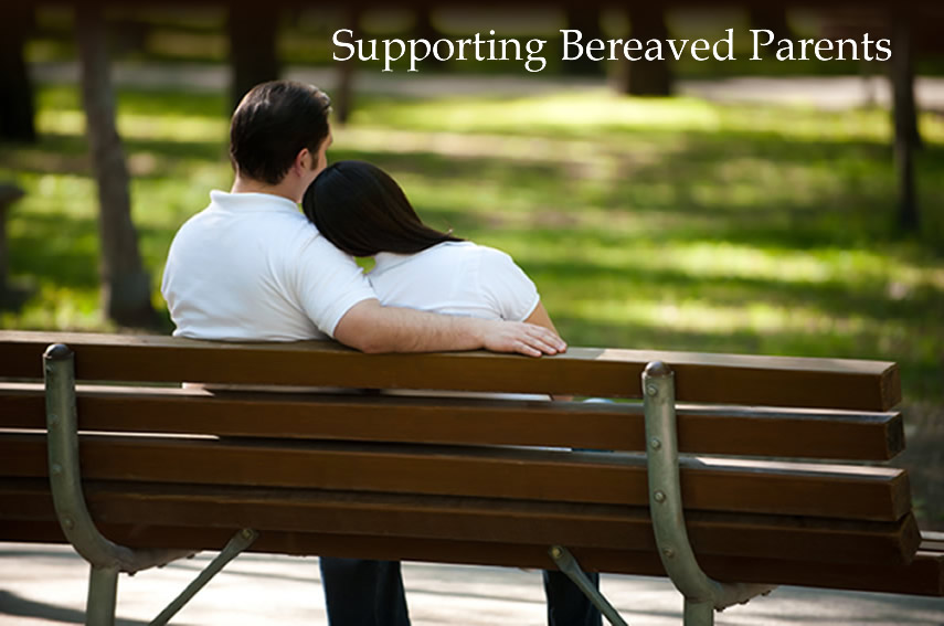 Bereaved Couple Sat on a Bench